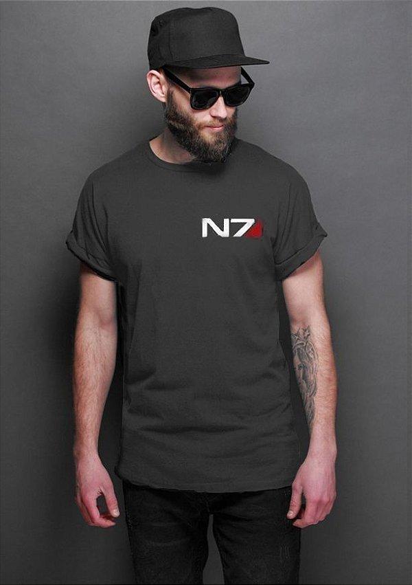 Camiseta Masculina  Mass Effect - Nerd e Geek - Presentes Criativos