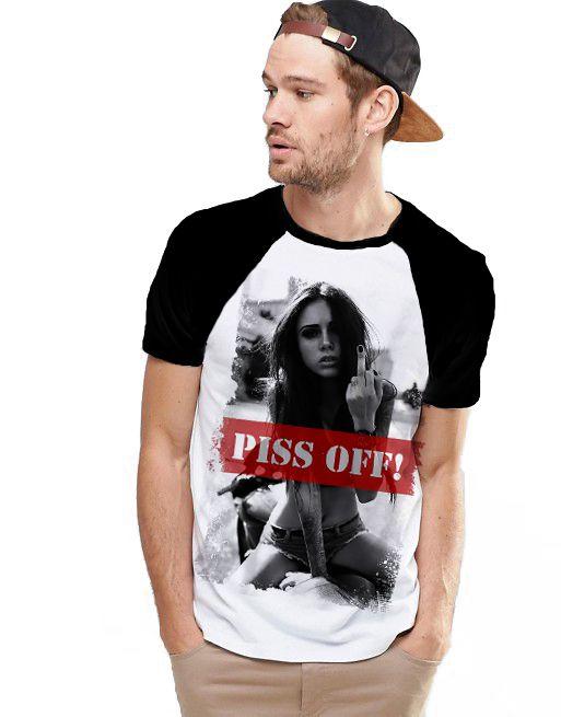 Camiseta Raglan King33 Piss Off