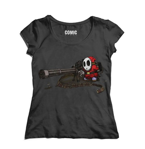 Camiseta Feminina Mário Wars - Metralhadora