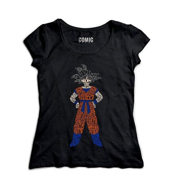 Camiseta Feminina Dragon Ball  - Nerd e Geek - Presentes Criativos