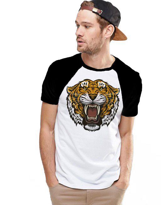 Camiseta Raglan King33 Tiger - Nerd e Geek - Presentes Criativos
