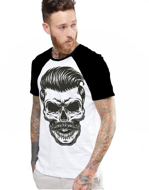 Camiseta Raglan King33 Skull Style - Nerd e Geek - Presentes Criativos