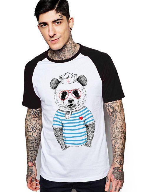 Camiseta Raglan King33 Urso Marinheiro - Nerd e Geek - Presentes Criativos
