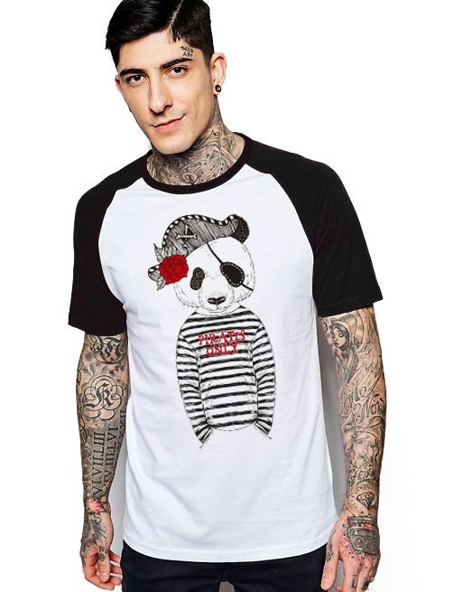 Camiseta Raglan King33 Urso Pirata - Nerd e Geek - Presentes Criativos