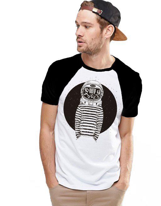 Camiseta Raglan King33 Astronauta - Nerd e Geek - Presentes Criativos
