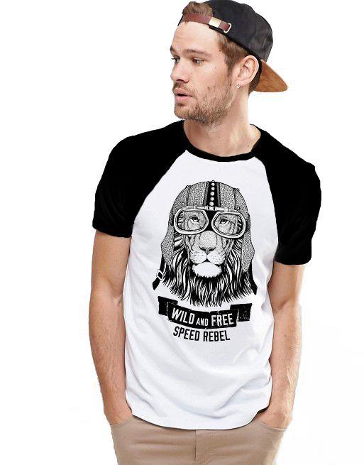 Camiseta Raglan King33 Leao Viajante