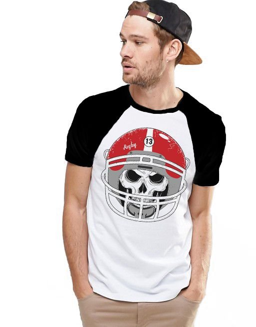 Camiseta Raglan King33 Skull Player - Nerd e Geek - Presentes Criativos
