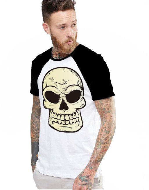 Camiseta Raglan King33 Skull Evil