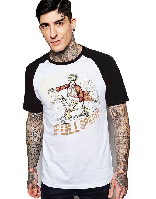 Camiseta Raglan King33 Full Speed - Nerd e Geek - Presentes Criativos