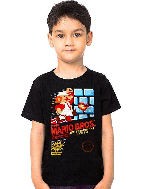 Camiseta Infantil Super Mario Bros