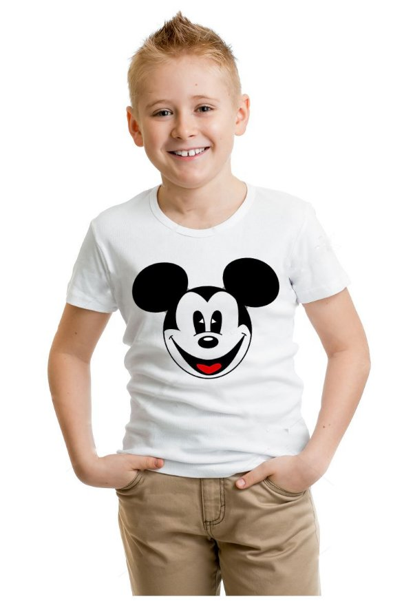 Camiseta Infantil Mickey Mouse Smile
