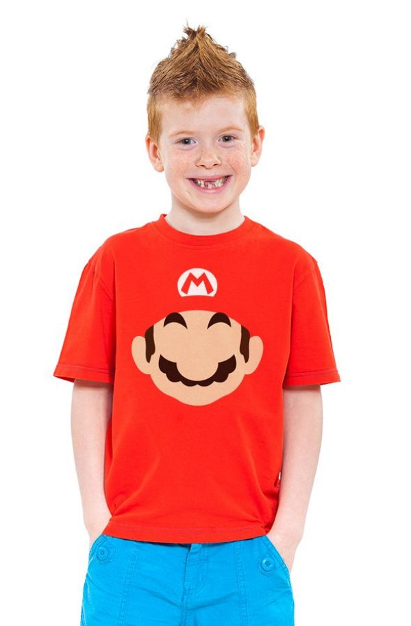 Camiseta Infantil Super Mario Word - Game - Nerd e Geek - Presentes Criativos