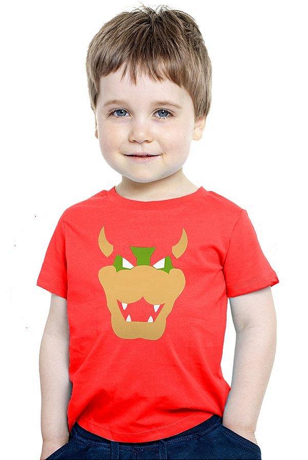Camiseta Infantil Super Mario Word - Game - Nerd e Geek - Presentes Criativos