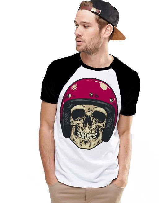 Camiseta Raglan King33 Skull Helmet 1
