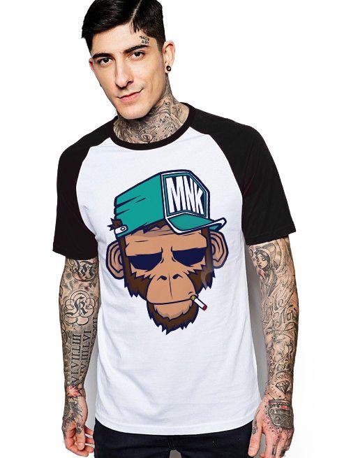 Camiseta Raglan King33 Monkey MK - Nerd e Geek - Presentes Criativos