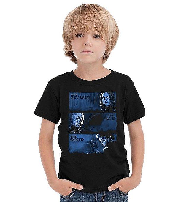 Camiseta Infantil Harry Potter e Valdemort