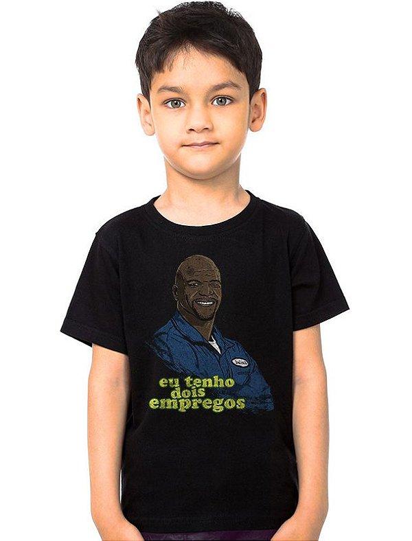 Camiseta Infantil Julius - Eu tenho dois empregos - Nerd e Geek - Presentes Criativos
