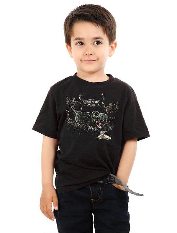 Camiseta Infantil Jurassic Park - Nerd e Geek - Presentes Criativos