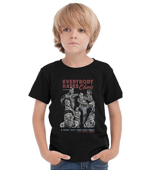 Camiseta Infantil Todo mundo odeia o Chris - Nerd e Geek - Presentes Criativos