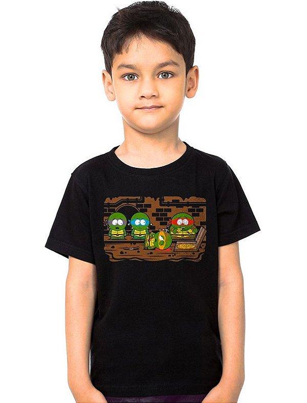 Camiseta Infantil Tartarugas Ninjas