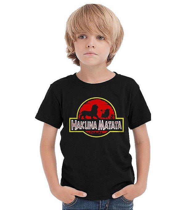 Camiseta Infantil Rei Leão - Hakuna Matata