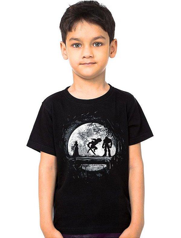 Camiseta Infantil Zelda, Ganon e Link - Nerd e Geek - Presentes Criativos