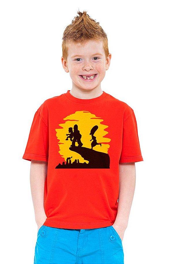 Camiseta Infantil  The Simpsons - Nerd e Geek - Presentes Criativos