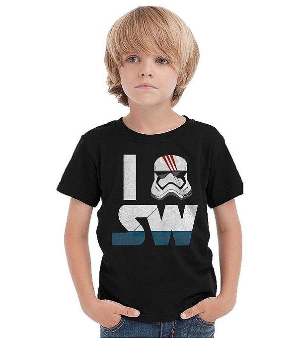Camiseta Infantil I Stormtrooper Star Wars