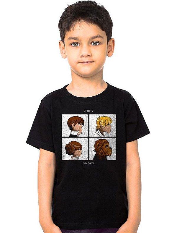 Camiseta Infantil Star Wars Rebelz Sith Days