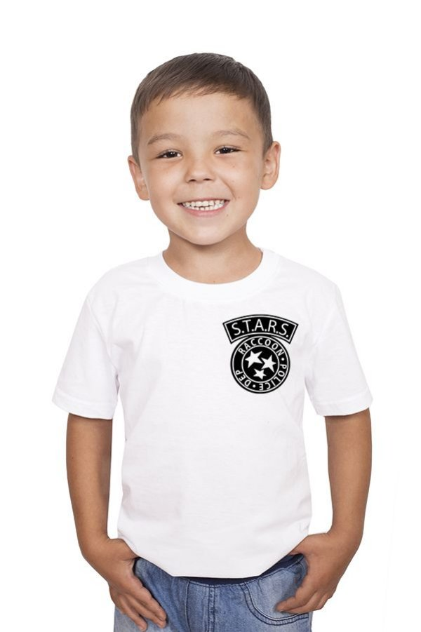 Camiseta Infantil Resident Evil Bolso - Nerd e Geek - Presentes Criativos
