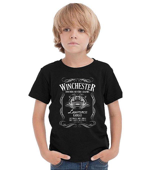 Camiseta Infantil Sobrenatural - Winchester