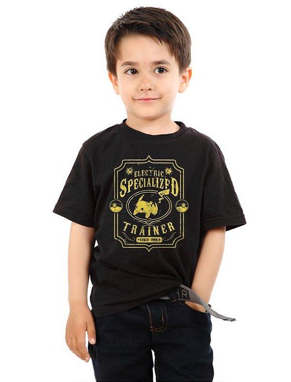 Camiseta Infantil Pokemon Specialized Trainer