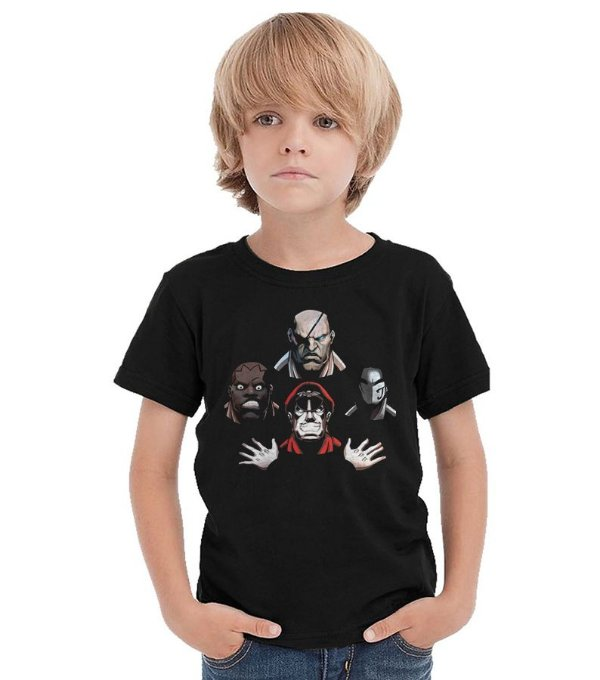 Camiseta Infantil Street Fighter Bohemian Rhapsody - Nerd e Geek - Presentes Criativos