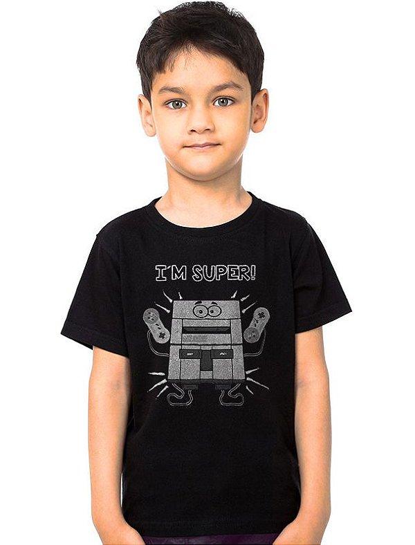 Camiseta Infantil I'm Super Nintendo