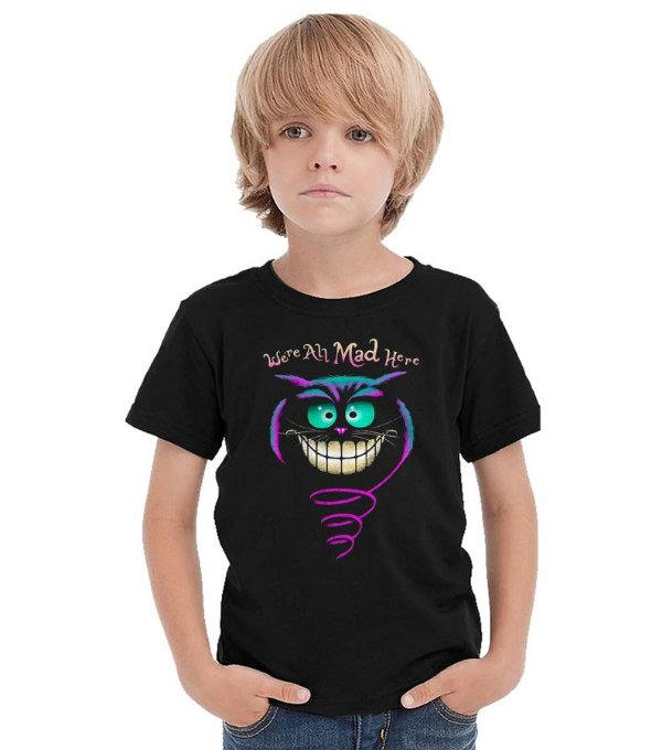 Camiseta Infantil Alice no País das maravilhas - Cheshire
