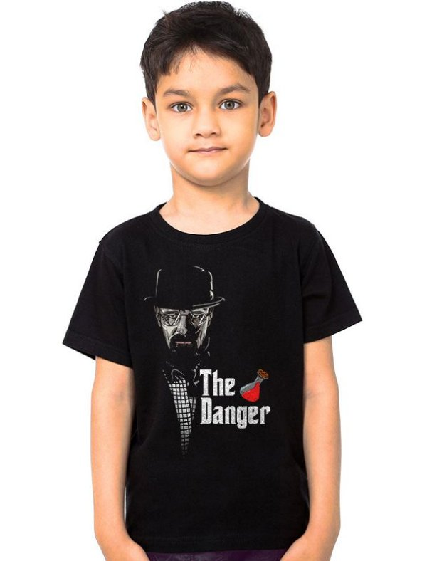 Camiseta Infantil Heisenberg The Danger   - Nerd e Geek - Presentes Criativos