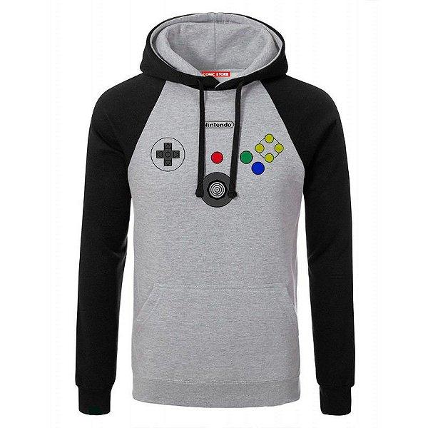 Blusa com Capuz Controle Nintendo