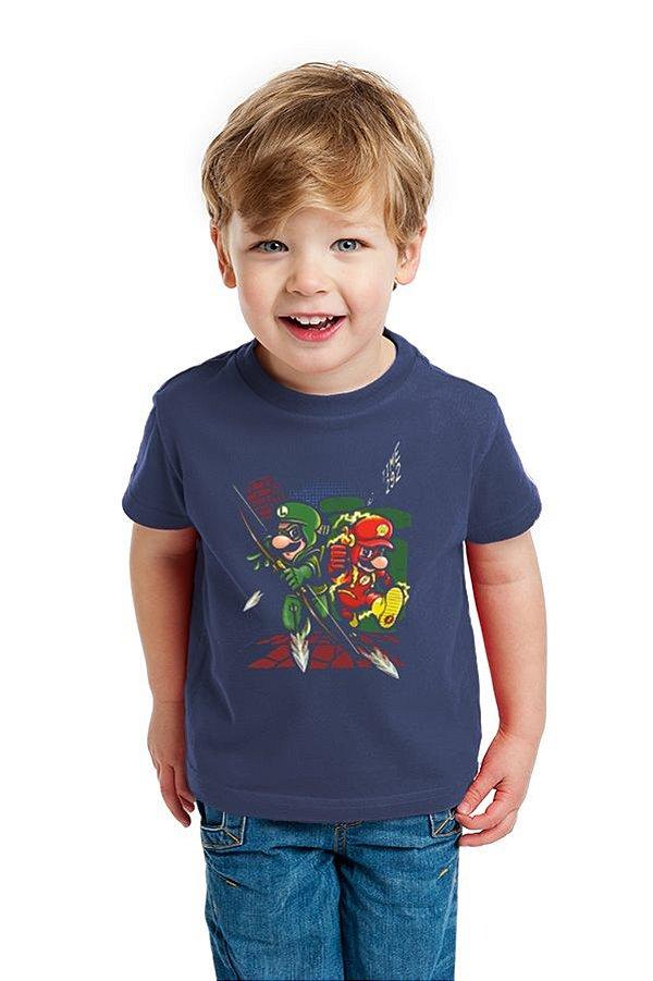 Camiseta Infantil Super Mario Flash - Nerd e Geek - Presentes Criativos