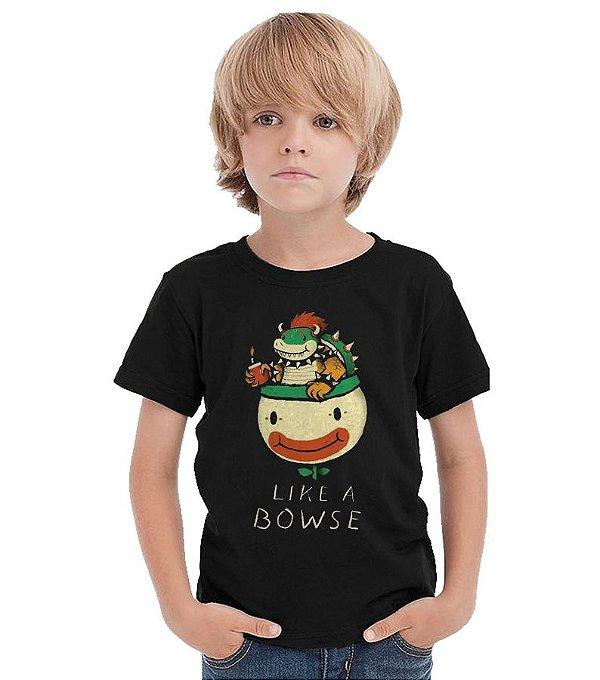 Camiseta Infantil Like a Bowse. - Nerd e Geek - Presentes Criativos