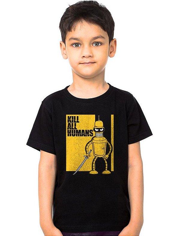 Camiseta Infantil Kill all Humans
