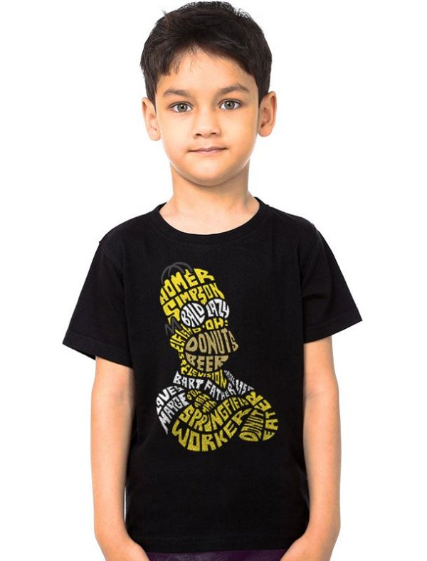 Camiseta Infantil Homer Simpsons