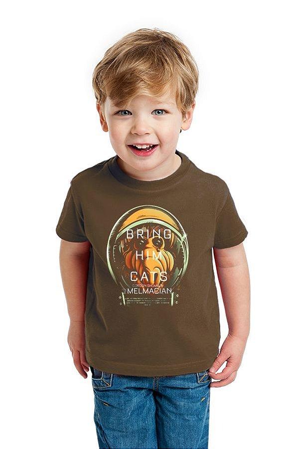 Camiseta Infantil ALF Bring Him Cats - Nerd e Geek - Presentes Criativos