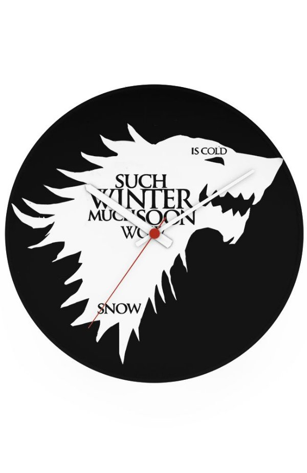 Relógio de Parede Game of Thrones Winter - Nerd e Geek - Presentes Criativos