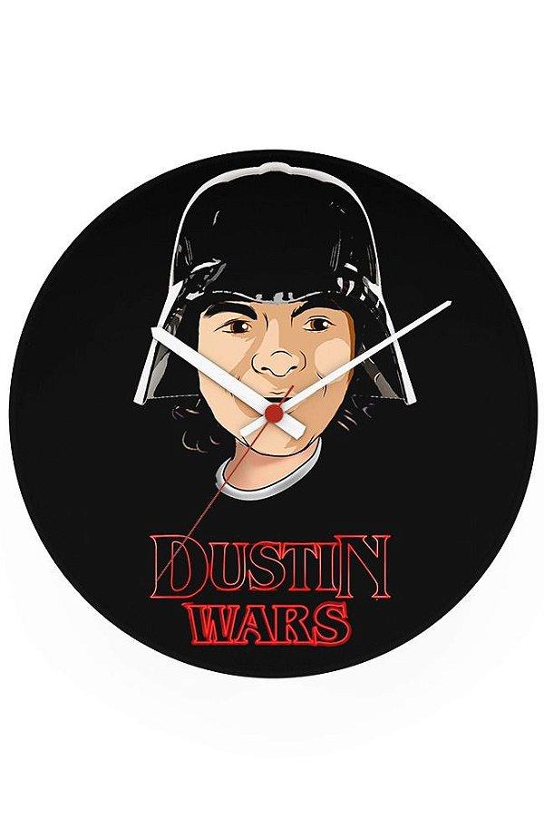 Relógio de Parede Dustin Wars - Nerd e Geek - Presentes Criativos