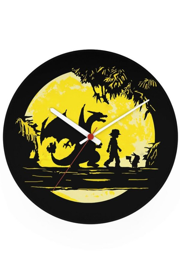 Relógio de Parede Pokemon - Ash e Pikachu - Nerd e Geek - Presentes Criativos