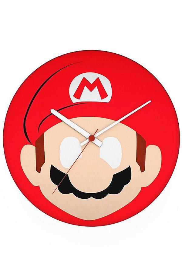 Relógio de Parede Super Mario - Game - Nerd e Geek - Presentes Criativos