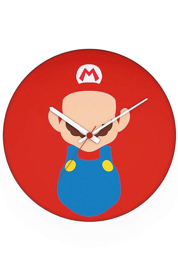 Relógio de Parede Super Mario Word - Nerd e Geek - Presentes Criativos