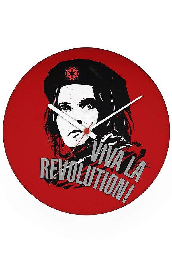 Relógio de Parede Viva la Revolution - Nerd e Geek - Presentes Criativos