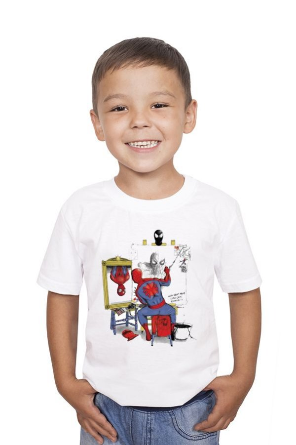 Camiseta Infantil Spiderman Self