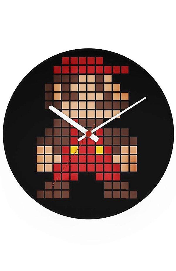 Relógio de Parede Super Mario Bros - Nerd e Geek - Presentes Criativos